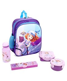 Disney Sofia The First School Kit Pack Of 5 - Purple