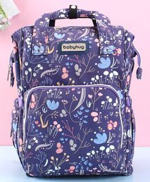 Babyhug Backpack Style Diaper Bag Floral Print - Purple
