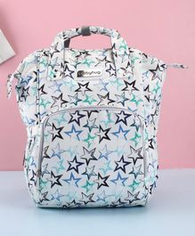Babyhug Diaper Backpack Star Print - Blue