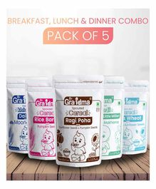 ByGrandma Breakfast, Lunch and Dinner Baby Food Combo of 4 - 1400 g