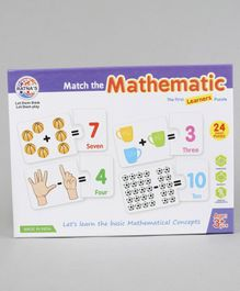 Ratnas Match The Mathematic The First Learners Puzzle Multicolor - 24 Pieces