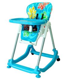 Babycenter India 4 In 1 High Chair With Wheels - Blue