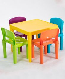 Babycenter India Table and Chairs Set - Multicolor