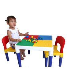 Babycenter India 2 In 1 Block Table and Chair Set - Multicolor