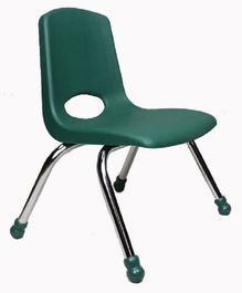 Babycenter India Stack Chair With Chrome Legs - Green