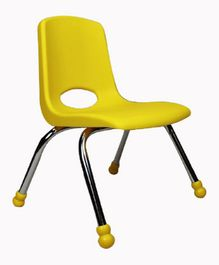 Babycenter India Stack Chair With Chrome Legs - Yellow