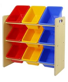 Babycenter India Storage Rack With 9 Bins - Multicolor