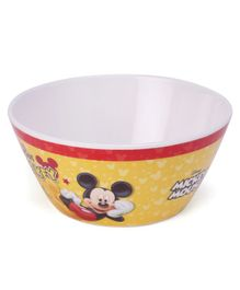 Disney Cone Bowl Mickey Mouse And Friends Print - Yellow