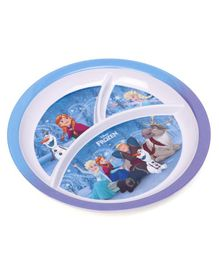Disney Frozen 3 Partition Plate - Blue