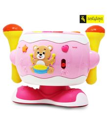 Zest 4 Toyz Dreaming Party Happy 360 Degree Rotating Drum With Handle - Pink