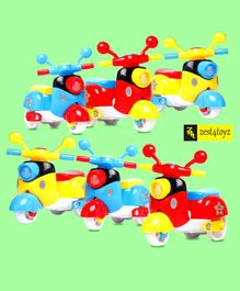 Zest 4 Toyz Friction Powered Vehicles Toys - Pack of 6 (Colour May Vary)
