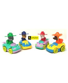 Zest 4 Toyz Friction Powered Vehicles Toys Pack of 4 - Multicolour