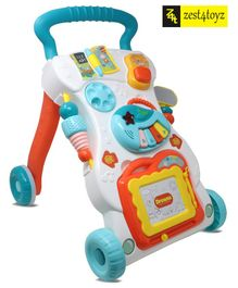 Zest 4 Toyz Musical Baby Walker With Wheels - Multicolour