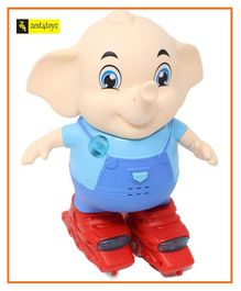 Zest 4 Toyz Musical Elephant Toy With Bump and Go Action - Blue