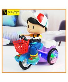 Zest 4 Toyz 360 Degree Rotating Stunt Tricycle With Bump & Go Action - Multicolor