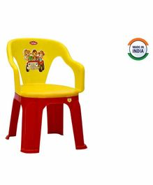 Prima Dual Colour Chair - Yellow Red