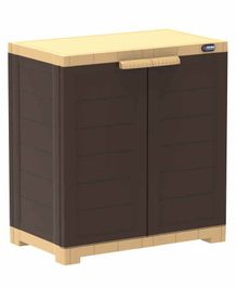 Prima 2 Compartment Storage Cupboard - Beige Brown