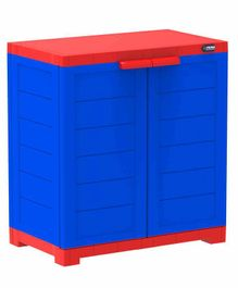 Prima 2 Compartment Storage Cupboard - Blue Red