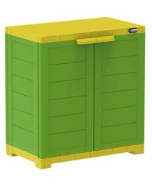Prima 2 Compartment Storage Cupboard - Green Yellow