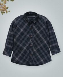 Knotty Kids Full Sleeves Checked Shirt - Blue