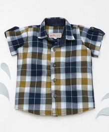 Knotty Kids Half Sleeves Checked Shirt - Multi Colour