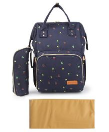 Bagsinfinitee Backpack Printed Diaper Bag - Blue