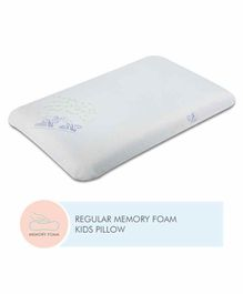 The White Willow Memory Foam Pillow With Removable Zip Cover - White