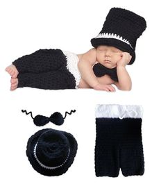Bembika Newborn Knitted Gentleman Costume 3 Piece - Black