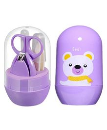 My Newborn Pocket Size Baby Nail Care Grooming Set - Purple