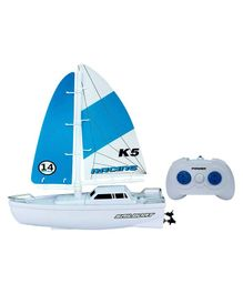Webby Remote Controlled Speed Yacht Ship Water Toy - White Blue