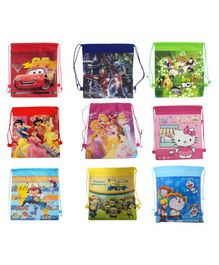 Funcart Haversack Bag Pack Of 9 Multicolor - 15 Inches