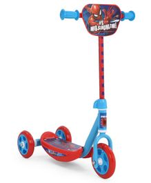 Spider Man Slinging Time Scooter With 3 Wheels - Red & Blue