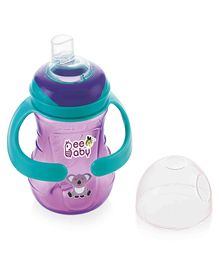 Beebaby Soft Silicone Spout Sippy Cup with Handle Purple - 250 ml