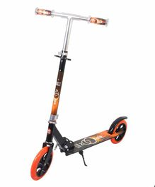 Cosmic Zoomer 2 Wheel Scooter With Stand - Black Orange