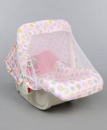 1st Step 5 in 1 Carrycot Cum Rocker with Anti Mosquito Mesh Multi Print - Pink