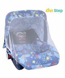 1st Step 5 in 1 Carrycot Cum Rocker Multi Print - Blue