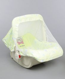 1st Step 5 in 1 Carrycot Cum Rocker with Anti Mosquito Mesh Multi Print - Green