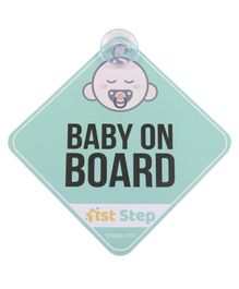 1St Step Baby On Board Sign - Blue