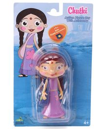 Chhota Bheem Chutki Character Figurine Purple - Height 10 cm