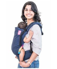 Anmol Baby 2 in 1 100 % Cotton Carrier - Navy Blue