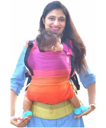 Anmol Baby 4 in 1 100 % Cotton Flexy Shravya Adjustable Carrier - Multicolour