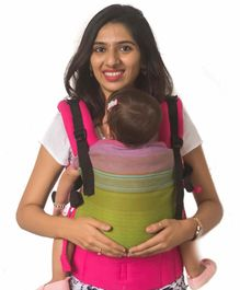 Anmol Baby Flexy Carrier with Adjustable Straps & Head Support - Green