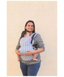 Anmol Baby Flexy Carrier with Adjustable Straps & Head Support - Blue