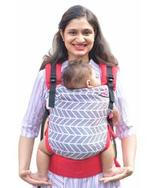 Anmol Baby Carrier with Adjustable Straps & Head Support - Red