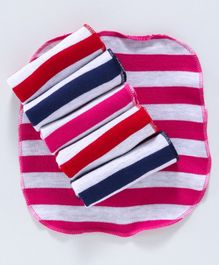 Pink Rabbit Striped Hand & Face Towels Pack of 6 - Multicolor
