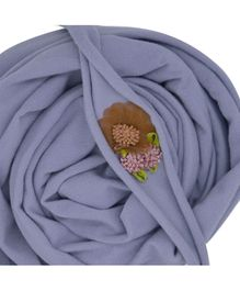 Bembika Newborn Baby Jersey Wrap & Headband Photo Props - Grey