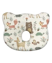 Abracadabra Baby Memory Foam Neck Pillow Animal Print - White