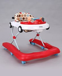 Babyhug Moonwalk Musical Baby Walker - Red