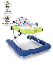 Babyhug Moonwalk Musical Baby Walker - Blue Green