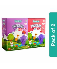 Timios Zookers Mix Flavors Apple Blueberry & Cherry Bits Biscuits Pack of 2 - 150 grams Each